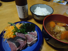 タタキ&みそ汁.JPG